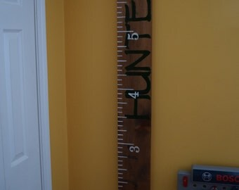 Hand Painted Personalized Children's Growth Chart