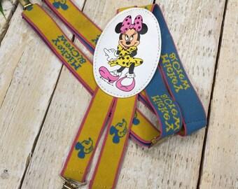 Kids Suspenders | Minnie Mouse Suspenders | Girl Suspenders, Adjustable Suspender, Kid Suspenders, Child Suspenders, Children Clothing