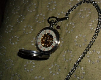 """aykau"" mechanical pocket watch"