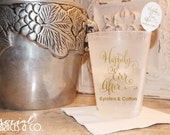 Custom Frosted Wedding Cups • Weddings • Bridal Showers • Personalized Cups • Wedding Party Cups • Custom Special Event Cups
