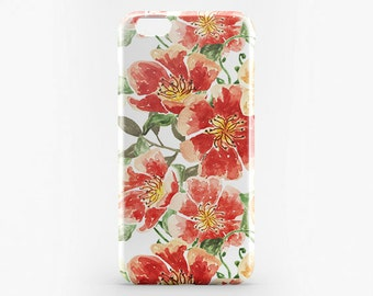 iPhone 7 Flower Case Glossy Full Wrap Case iPhone 6 Plus Case Floral iPhone 7 Plus Case Galaxy S6 S7 Case iPhone SE Flower iPhone 6 Case