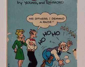 Blondie Vintage Comic Book By Dean Young and Jim Raymond Vintage Paperback Comic Book 1982