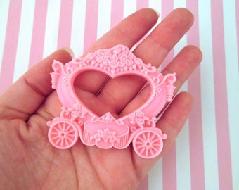 One Pink Princess Carriage Cabochon #770