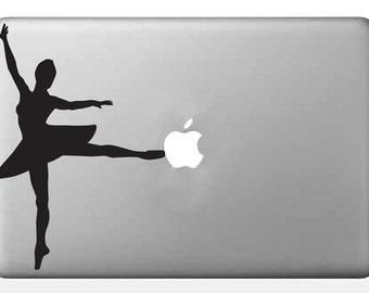 Ballerina Vinyl Decal, Tiny Dancer Sticker, Ballet Laptop Art, Dance Phone Sticker, Dancer Car Decal, Macbook Decal, Laptop Sticker
