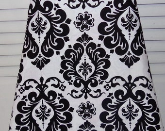 "Ironing Board Cover Black & White Damask Pattern 100% Cotton 15"" x 54"""