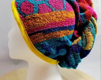 Bohemian Towel Hair Wrap