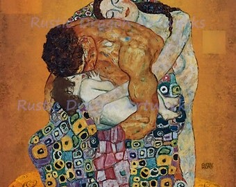"Gustav Klimt ""The Family"" 1920 Reproduction Digital Print Home Decor Mother Father Child Art Nouveau"