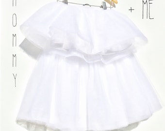 Girl Tutu Skirt,Mommy & Me Tutu Skirt Outfit,Flowy Fashion Skirt, 6 layers of high quality Tulle, Under lining layer,Elastic Wa