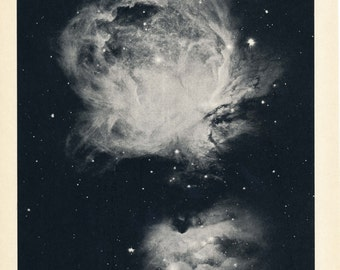 1959 Great Nebula in Orion Vintage Astronomy Print