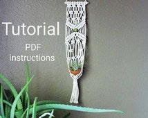 macrame plant hanger pattern pdf unique macrame tutorial related items etsy 3723
