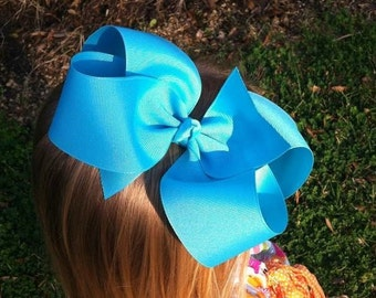 """6"""" Turquoise Hair Bow"""