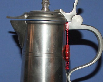 Hand Made Swiss 95% Zinn Pewter Teapot Pitcher