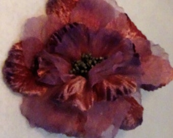 Flower for Millinery/Hat trim Peach and Lavender