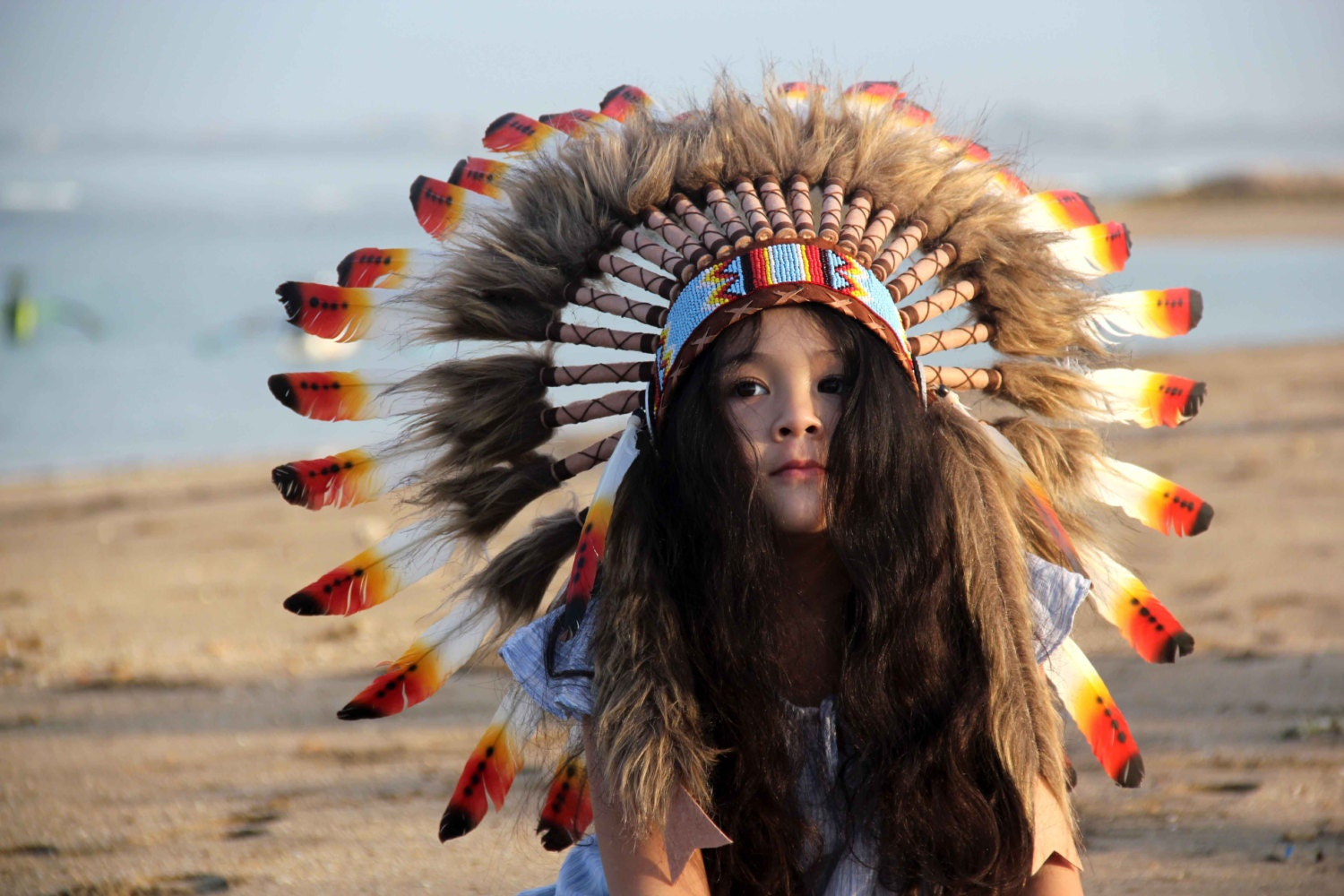 on sale kids feather headdress indian style indian headdress