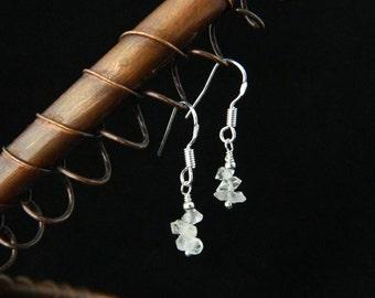 Herkimer Diamond Earrings ~ Sterling Silver ~ Natural ~ Herkimer Quartz ~ Herkimer ~ April Birthstone ~ Sparkle Earrings ~ Dangle Earrings