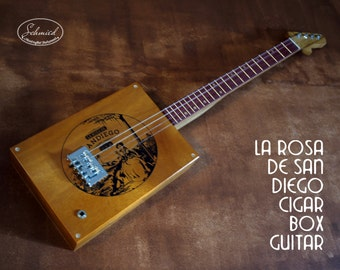 """Cigar Box Guitar, """"La Rosa de San Diego""""  Box"""