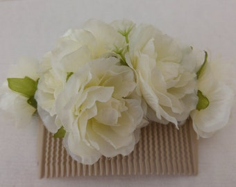 Flower Bridal Comb, white wedding Comb, flower comb, Wedding Flower,Hair wedding hair accessories, Ivory wedding Comb