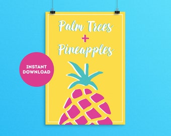 Pineapple Printable Wall Art