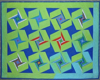 Show Stars by Lorraine Carthew & Gail Price.  Created for Project Linus. Great charity or kids quilt. Quick! Very easy! No matching points!