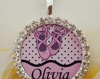 Personalised  necklace jewellery ballet dancer  gift present