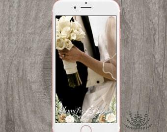 SNAPCHAT GEOFILTER, Custom Snapchat Geofilter, Wedding geofilter, Snapchat filter, green wedding snapchat geofilter