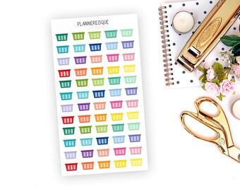 60 Laundry Basket Stickers - MI 0019