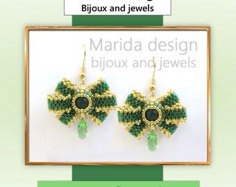 """Tutorial """"Cadeau"""" earrings (ITA-EN)"""