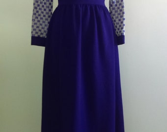 Vintage Purple Glam Gown - Maxi Dress.