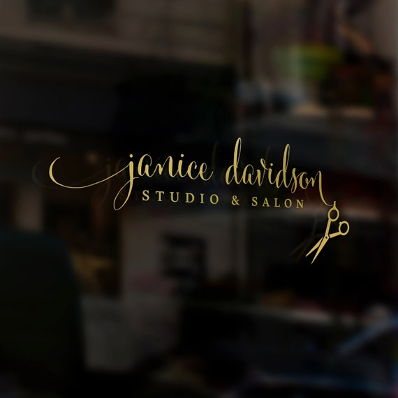 Pre made logo hair stylist studio beauty salon hairdresser for Salon designer online