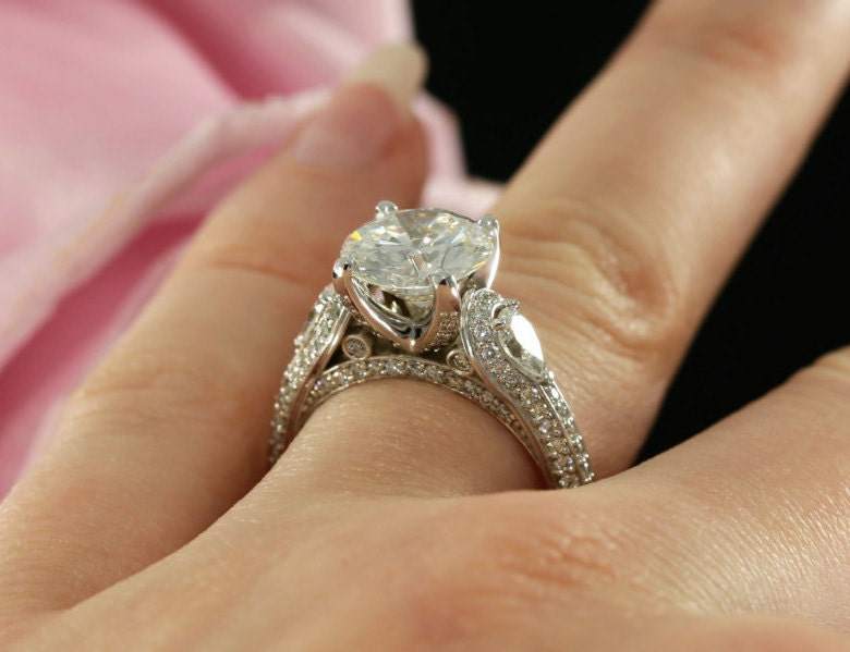 9mm Forever Brilliant Moissanite Engagement by KaratJewelryGroup