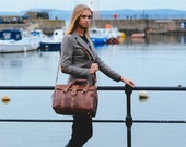 Leather Duffle Bag, Full Grain Leather Handbag, Cabin Luggage, Carry Lite Holdall, Lightweight Luggage, Carry on Baggage, Vegetable Tanned