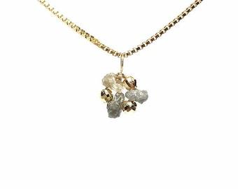 White Diamond Necklace, Diamond Pendant White, K14 Gold filled Necklace, Gemstone Necklace, Diamond Necklace, Gold Filled Jewelry, Gift Jewelry
