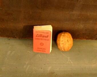 Vintage Dictionary Lilliput. Dictionnaire Lilliput Langenscheidt. Français-Espagnol. Mini Dictionary.