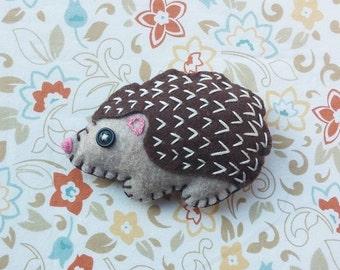 Felt Hedgehog Magnet