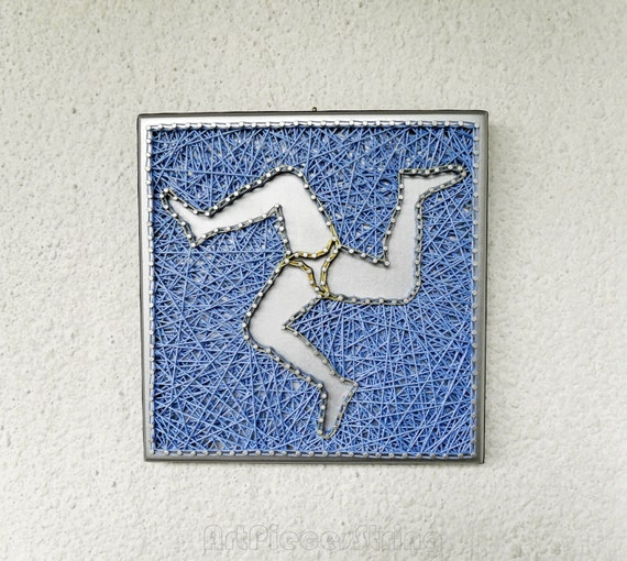 Wall Decoration For Wedding Anniversary : Silvery blue symbol sicily picture wall decor anniversary