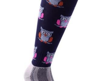Samson® Hooters Christmas Socks Owl Animal Knee High Thick Ski Snow Stockings Festive Seasonal Winter Thermal Cosy Warm