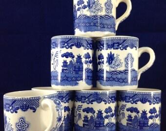 Blue White Mugs Japanese Ceramic Mugs TyNee Ceramic Mugs Succulent Planter Herb Planter
