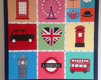London Icon large acrylic painting