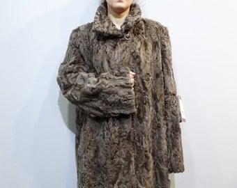 Real Karakul Fur Jacket,Fur Astrakhan,Fur Jacket,Swakara Fur, Swakara Jacket,Black Swakara Jacket, Big size Swakara, Persian Lambskin Jacket