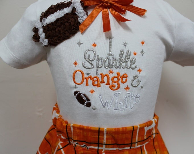 Tennessee Volunteer Girl outfit, University of Tennessee girl shirt, Volunteer baby girl, Volunteer Toddler outfit, Orange twirl skirt