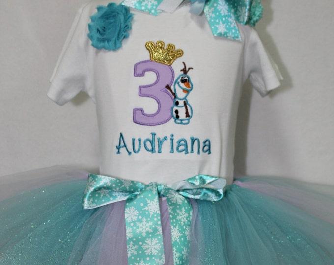 Girls Disney Birthday,Olaf inspired Birthday, Third Birthday, Girl 3rd birthday, Elsa birthday outfit, Frozen theme birthday,Frozen tutu