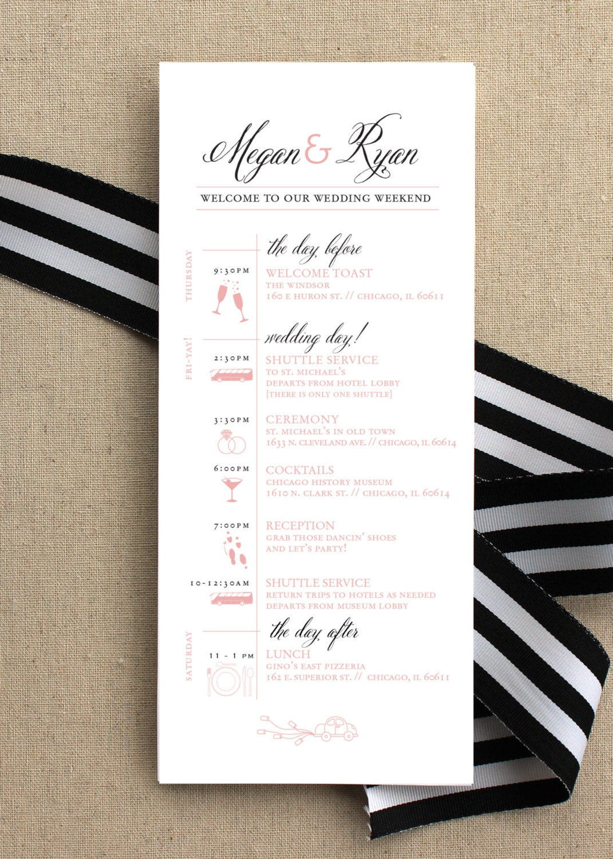 Destination wedding day of timeline