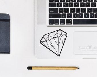 Diamond Vinyl Decal - Diamond Sticker - Diamond Decal - Laptop Decal - Macbook Decal - Car Decal - Laptop Sticker - Macbook Sticker