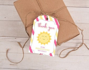 You Are My Sunshine Favor Tags, Sunshine Birthday, Sunshine Party, Favor Tags, Baby Shower, Sun Favor Tag, First Birthday, INSTANT DOWNLOAD