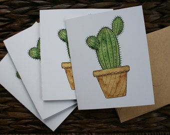 Set of Cactus Cards | Blank Inside | Any Occasion Greeting Cards