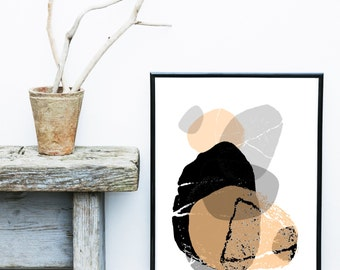Abstract Art Print, Printable Wall Art, Scandinavian Design, Mid Century Modern, Geometric Art, Minimalist Art, Instant Download