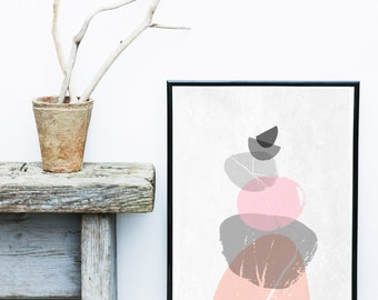 Instant Download Printable Art, Scandinavian Art , Modern Art, Wall Decor,  Gallery Wall, Pink Abstract
