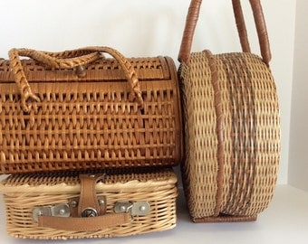 Wicker Purse Collection