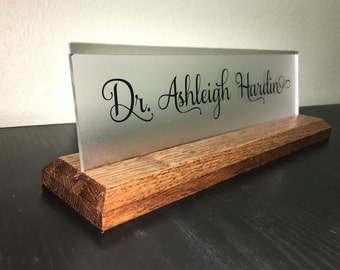 Personalized Name Plate, Company name, Business or Personal Motto, Favorite Quote on Name Plate