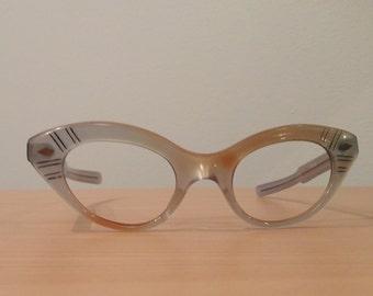 Vintage 1960's SELECTA Cateye Eyeglass Frames, New Old Stock, True Vintage, Glasses Frames